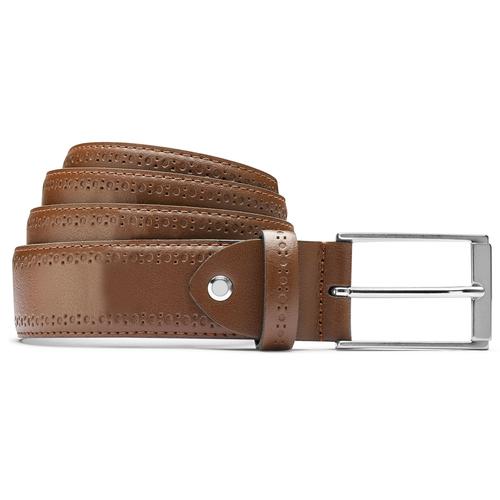 Cintura uomo con decorazione bata, marrone, 954-4103 - 13