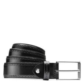 Cintura uomo con decorazione bata, nero, 954-6103 - 13