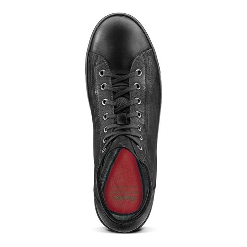 Sneakers alte da uomo in pelle bata, nero, 894-6295 - 15