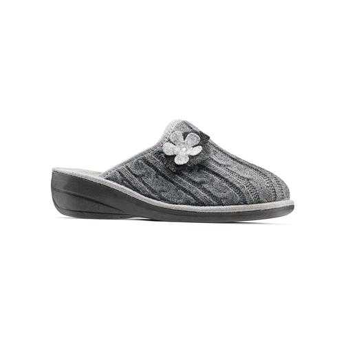 Pantofole donna in lana bata, grigio, 579-2421 - 13