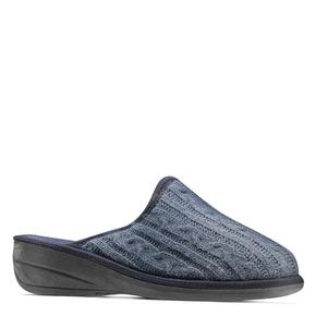 Pantofole da donna in lana bata, blu, 579-9370 - 13