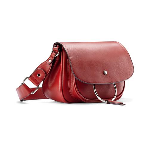 Borsa rossa con anello bata, rosso, 961-5161 - 13