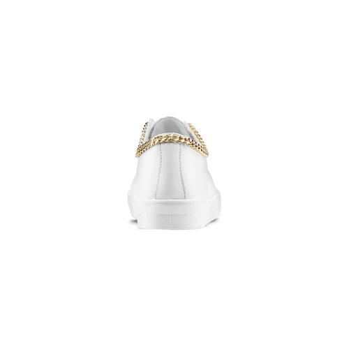 Slip on con dettaglio catena gold north-star, bianco, 541-1129 - 16