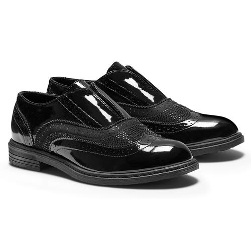 Scarpe eleganti da bambina mini-b, nero, 321-6201 - 19