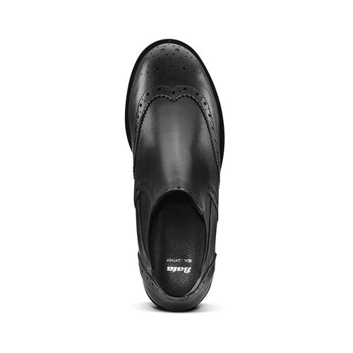 Stivaletti alla caviglia in pelle bata, nero, 594-6184 - 15