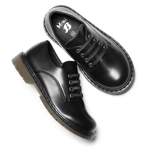 Scarpe allacciate bimbo mini-b, nero, 211-6186 - 19