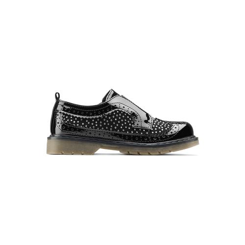 Scarpe senza lacci da bimba mini-b, nero, 221-6202 - 26