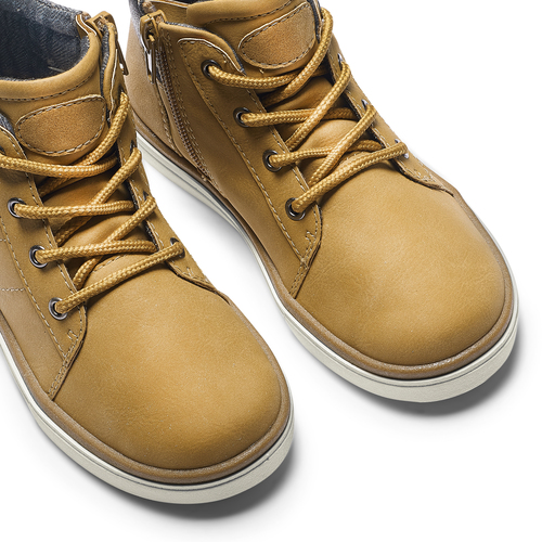 Sneakers alte da bambino mini-b, giallo, 291-8172 - 15