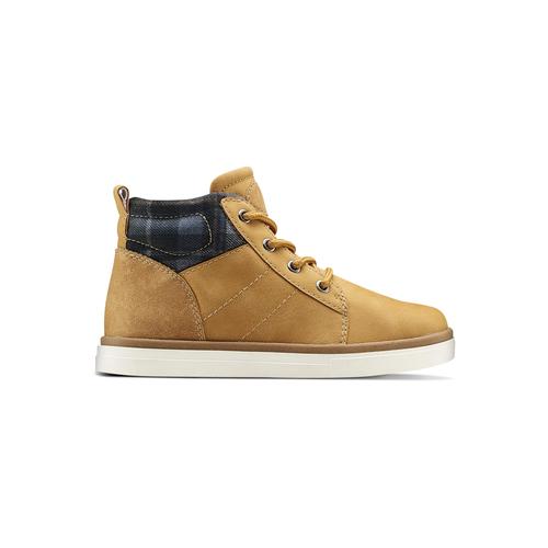Sneakers alte da bambino mini-b, giallo, 291-8172 - 26