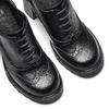 Stringate donna con tacco bata, nero, 721-6146 - 19
