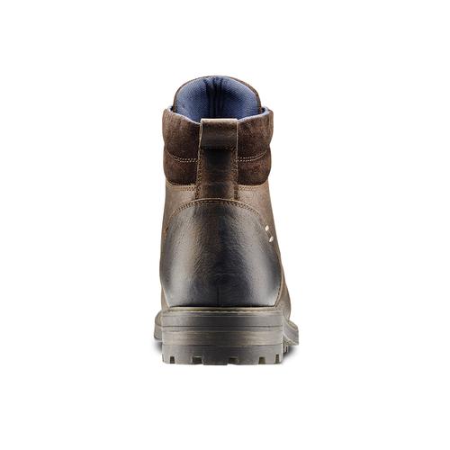 Stivaletti Outdoor in pelle bata, marrone, 894-4136 - 16