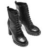 Stivali con lacci da donna bata, nero, 791-6177 - 15