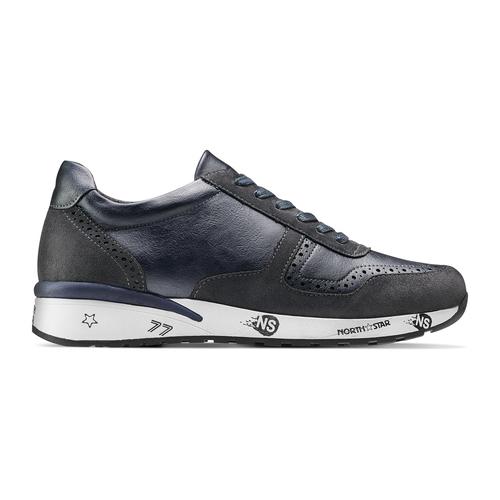 Sneakers da uomo con logo north-star, blu, 841-9737 - 26