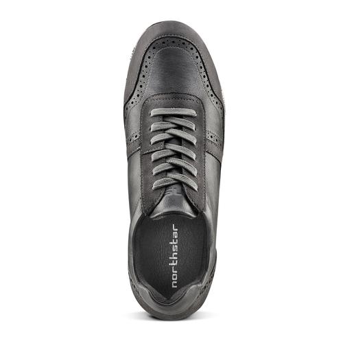 Sneakers da uomo con logo north-star, grigio, 841-2737 - 15