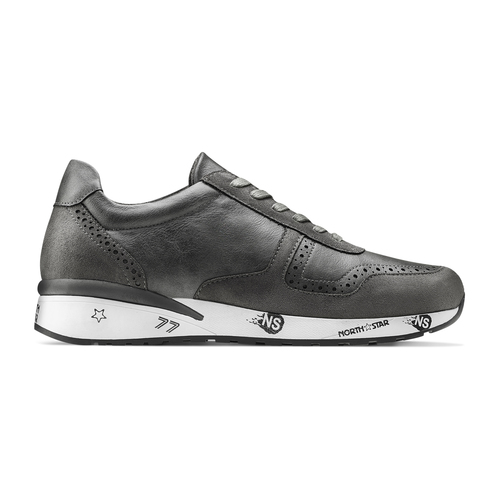 Sneakers da uomo con logo north-star, grigio, 841-2737 - 26