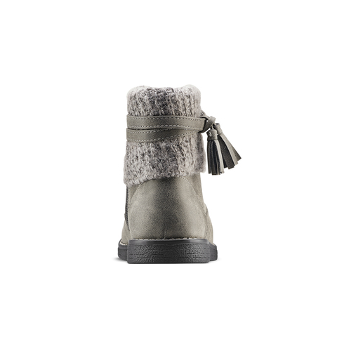Stivaletti bimba con dettaglio in lana mini-b, grigio, 391-2411 - 16