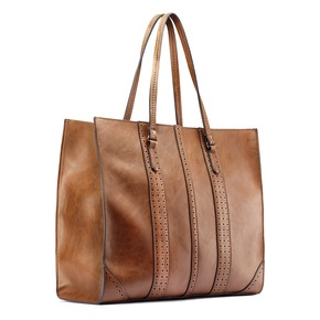 Shopper da donna in similpelle bata, marrone, 961-3163 - 13