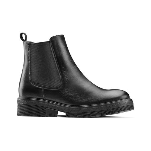 Chelsea Boots in vera pelle bata, nero, 594-6696 - 13
