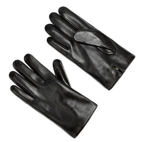 Guanti in pelle da uomo bata, nero, 904-6130 - 13