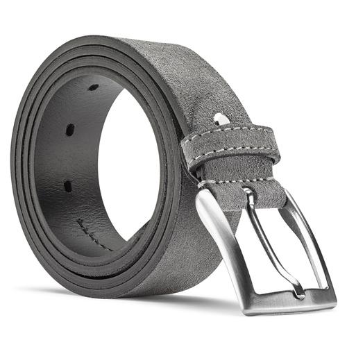Cintura da uomo in suede bata, grigio, 953-2101 - 26