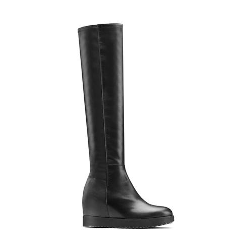 Stivali in pelle con zeppa interna bata, nero, 694-6222 - 13