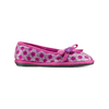 Pantofole in lana cotta a pois bata, rosso, 579-5422 - 13