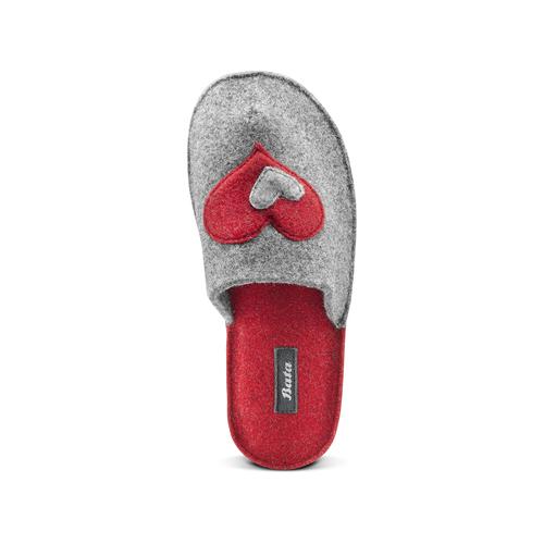 Pantofole in lana cotta bata, grigio, 579-2112 - 15