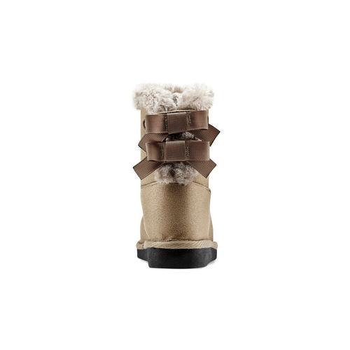 Stivaletti imbottiti con strass mini-b, marrone, 299-3164 - 16