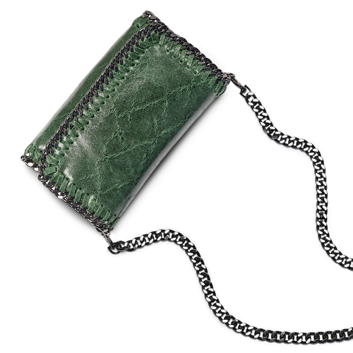 Tracolla con dettaglio catena bata, verde, 964-7278 - 17