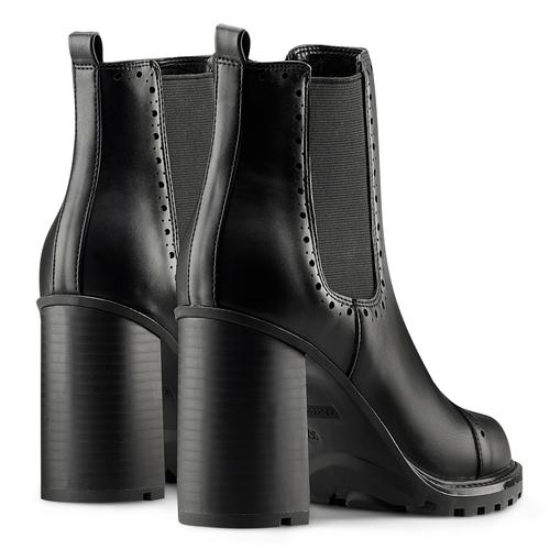 Stivaletti alla caviglia con tacco bata, nero, 791-6181 - 19