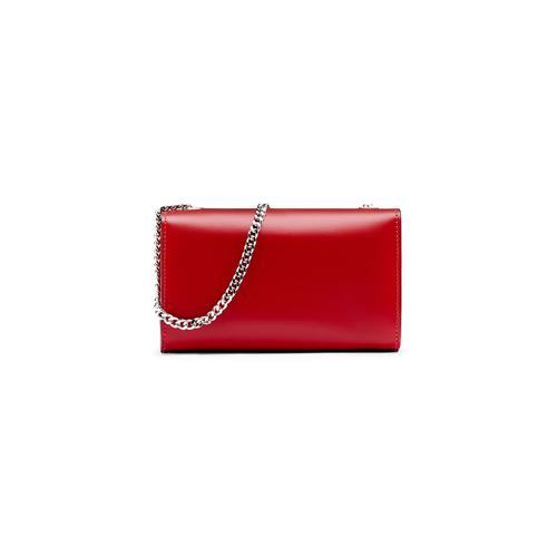 Tracolla da donna in vera pelle bata, rosso, 964-5277 - 26