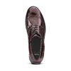 Scarpe platform stringate bata, rosso, 521-5656 - 15