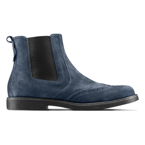 Chelsea Boots in suede bata, blu, 893-9225 - 26
