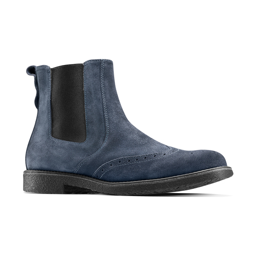 Chelsea Boots in suede bata, blu, 893-9225 - 13