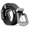 Cintura da donna con doppia fibbia bata, nero, 951-6131 - 26