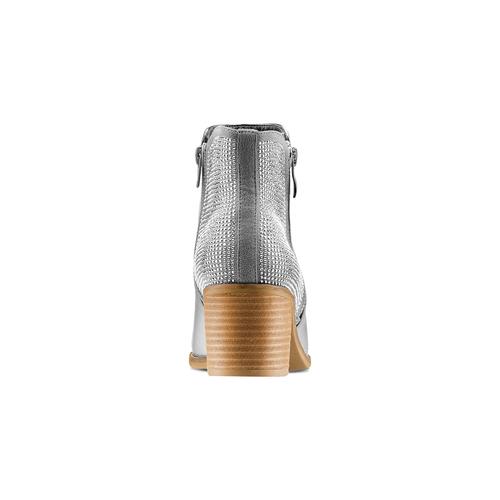 Stivaletti laminati con strass bata, argento, 791-2245 - 15