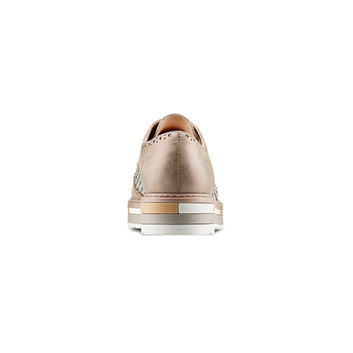 Stringate con lavorazione Brogue bata, beige, 521-2292 - 15