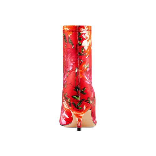 Stivaletti calzino con tacco bata, rosso, 799-5267 - 15