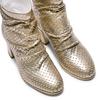 Stivaletti laminati in pelle bata, oro, 694-8229 - 17