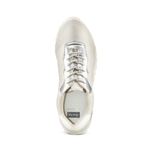 Sneakers con dettagli laminati bata, bianco, 549-1212 - 17