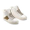 Sneakers alte da donna bata, bianco, 541-1191 - 16