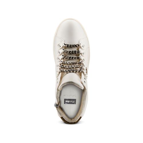 Sneakers alte da donna bata, bianco, 541-1191 - 17