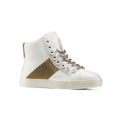 Sneakers alte da donna bata, bianco, 541-1191 - 13