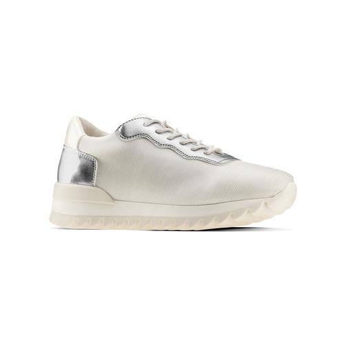 Sneakers con dettagli laminati bata, bianco, 549-1212 - 13
