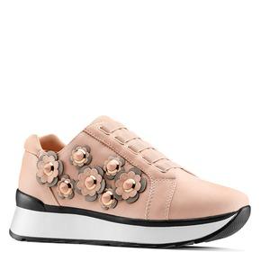 Sneakers basse con fiori applicati bata, 549-5165 - 13