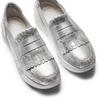 Sneakers Platform con frange bata, argento, 614-1131 - 26