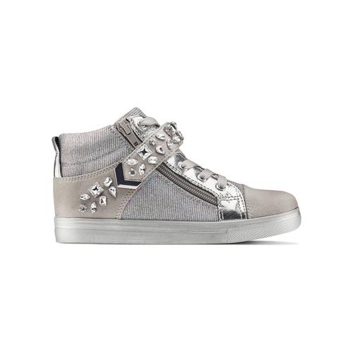 Sneakers alte da bambina mini-b, grigio, 329-2301 - 26