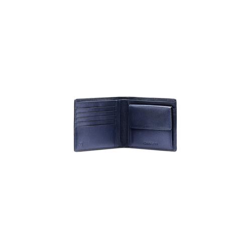 Portafoglio da uomo con dettaglio a contrasto bata, viola, 944-9151 - 16