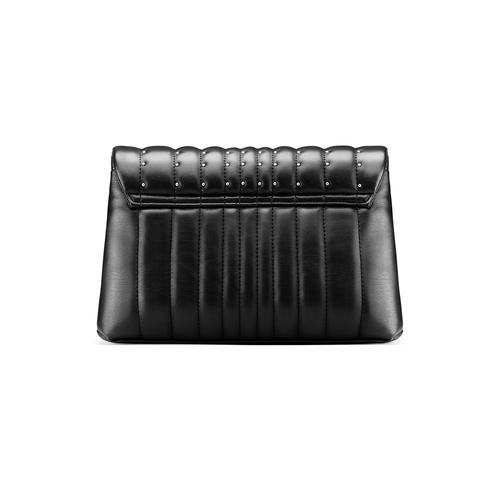 Borsa tracolla con micro borchie bata, nero, 961-6211 - 26