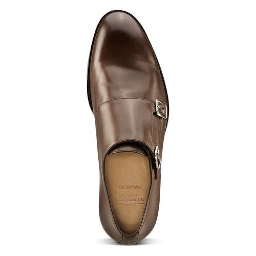 Monk in vera pelle bata-the-shoemaker, marrone, 814-4130 - 15